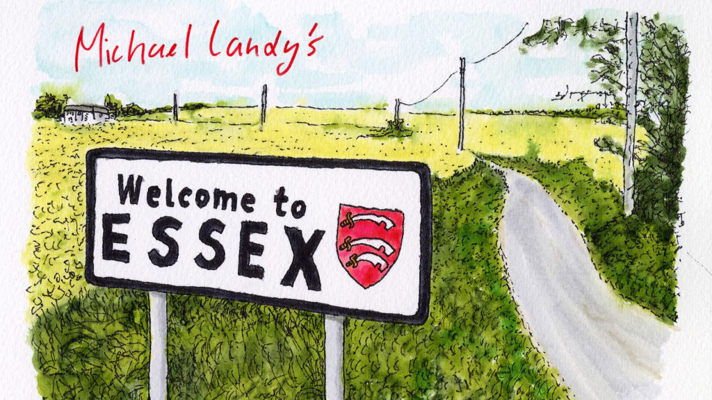 Michael Landy, Welcome to Essex (detail) , 2021. Ink on paper.