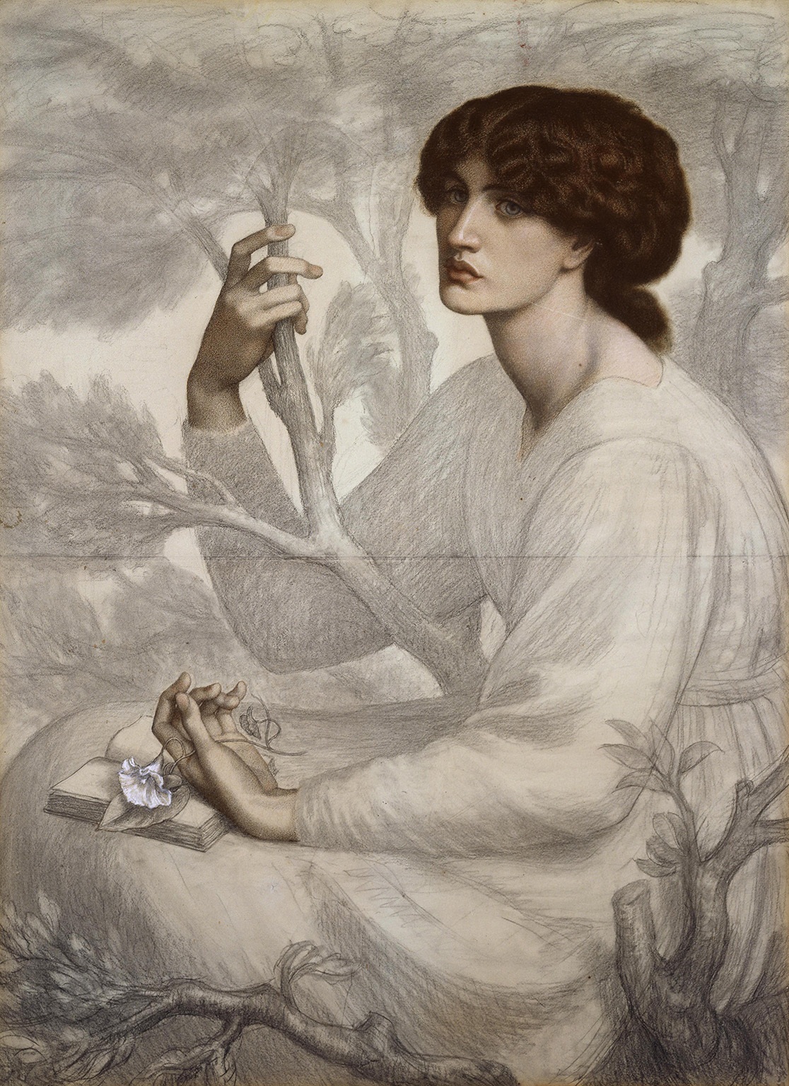 Dante Gabriel Rossetti (1828–82) The Day Dream, 1872–8, Pastel and black chalk on tinted paper, 104.8 × 76.8 cm © Ashmolean Museum