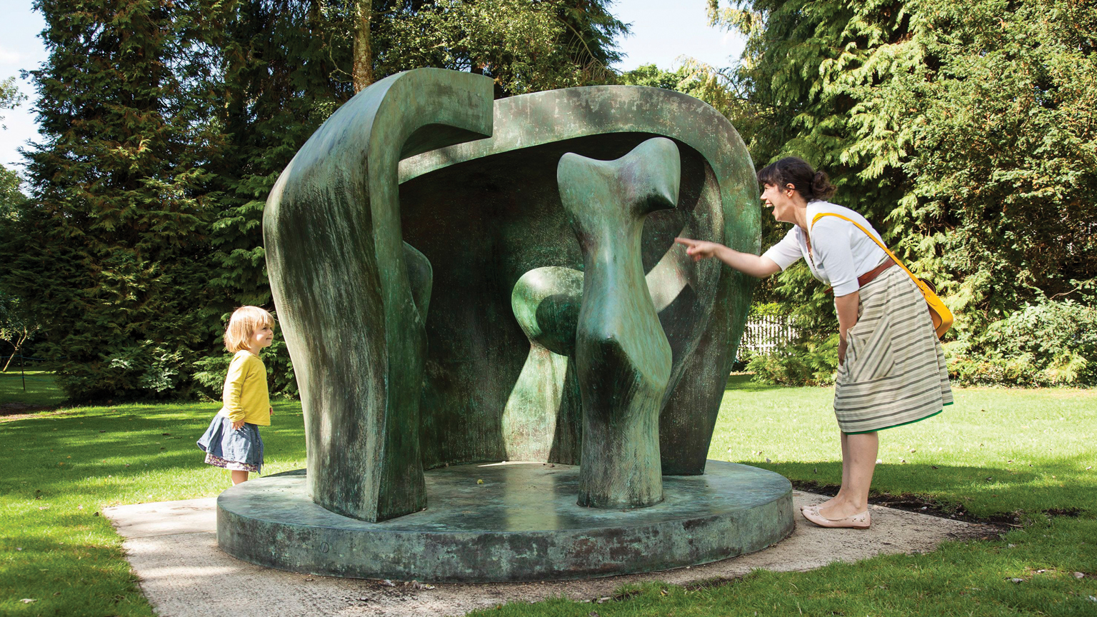 Henry Moore Studios and Gardens, Henry Moore, Figure in a Shelter, 1983