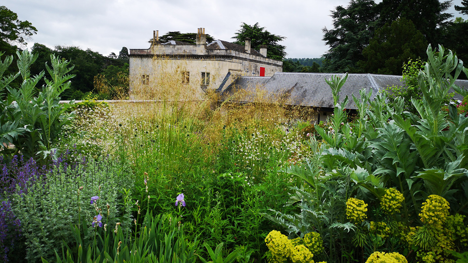 Walled Garden and view of the museum